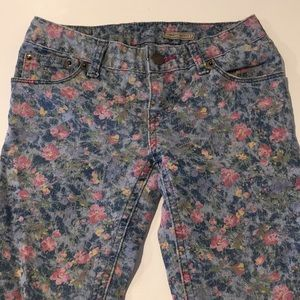 Girls Ralph Lauren Floral Skinny Jeans